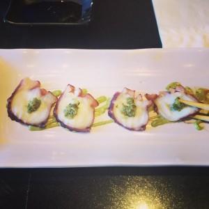 Photo: Grilled octopus ?! Erm..ok. #food #sushistop #santamonica #octopus