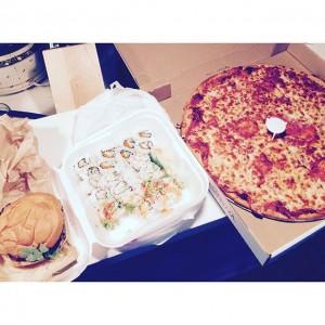 Photo: It's a #pizza #sushi #burger kinda night! #sushistop
