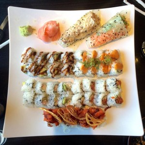 Photo: Late post from our sushi lunch! @jdiaz917 @agacad #oldtownpasadena #sushistop #rollsfordays #sushi