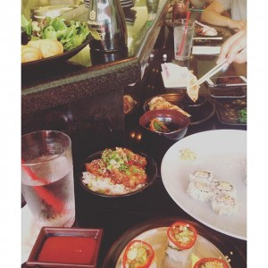 Photo: Lunch with the bestie. We're going in on this sushi. #sushistop #bestfriendsday
