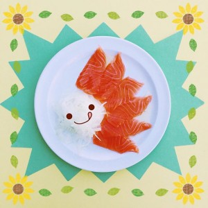 Photo: mmm salmon *drools* ✧٩(✪д✪๑)✧
