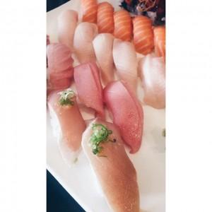Photo: satisfaction — #sushidate #sushi #sushistopusa #sushistoppasadena #sushistop #salmon #yellowtail #bluefintoro #albacore #oldtownpasadena #foodporn #fatlife #bestfoodla #goodeats