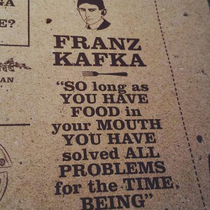 Photo: #vsco #vscocam #vscolithuania #sushistop #caffe #restoran #kafka #food #quote #problems